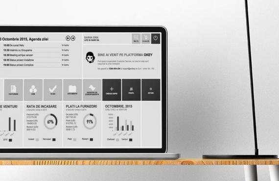 Captura de ecran cu tabloul de bord pe un calculator